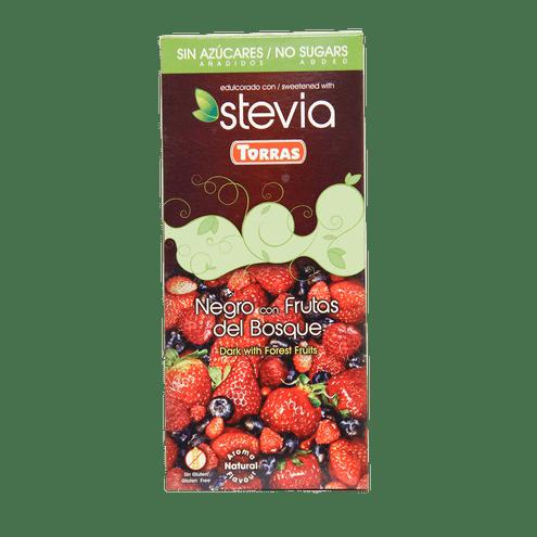 Comprar Torras Choco.Stevia Negro/Frutos 125gr