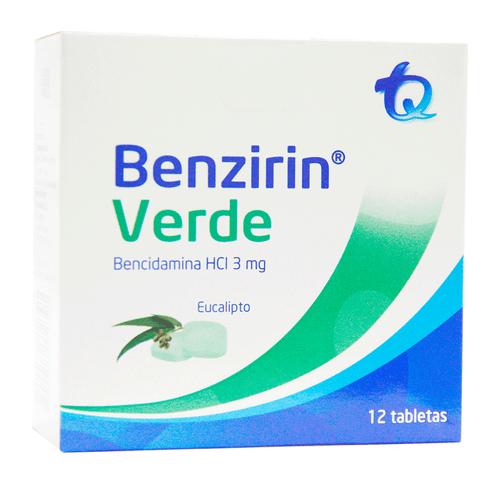 Comprar Benzirin Verde Eucalipto X 12 Tabletas