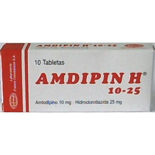 Comprar Amdipin H 10-25 X 10 Tabletas