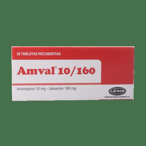 Comprar Amval 10/160mg X 28 Tabletas