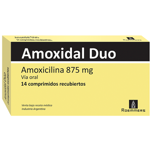 Comprar Amoxidal Duo 875mg Caja X 14 Comprimidos