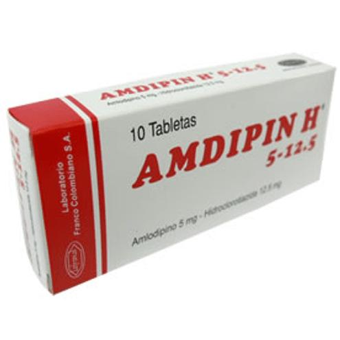 Comprar Amdipin H 5/12.5mg X 10 Tabletas - Amdipin H 5/12.5mg X 10 Tabletas