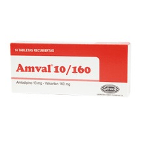 Comprar Amval 10/160mg X 14 Tabletas - Amval 10/160mg X 14 Tabletas