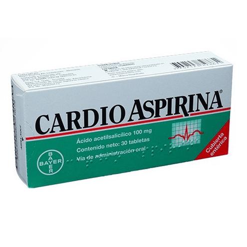 Comprar Cardioaspirina 100mg X 30 Tabletas