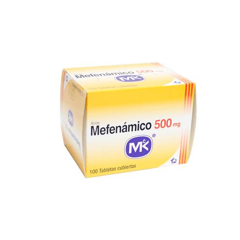 Comprar Acido Mefenamico 500mg X 100 Tabletas Mk