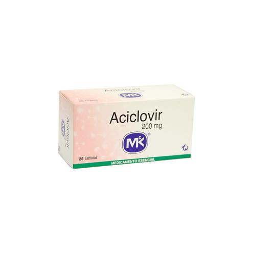 Comprar Aciclovir 200 Mg Caja X 25 Tabletas