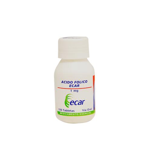 Comprar Acido Folico 1 Mg X 100 Tabletas