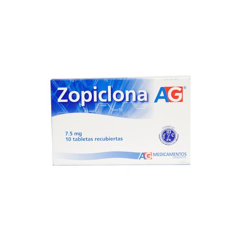 Comprar Zopiclona 7.5 Mg X10 Tab Recubiertas Ag