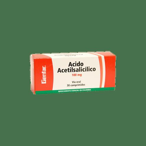 Comprar Genfar Ácido Acetilsalicílico 100mg Caja X 30 Comprimidos