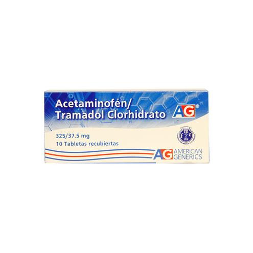 Comprar Acetaminofen /Tramadol 325/37.5mg Caja X 10 Tab Ag