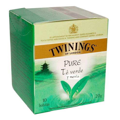 Comprar Twinings Te Verde Y Menta X 10unid 20gr