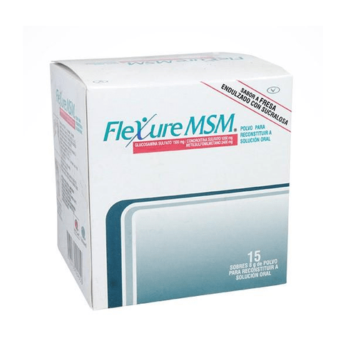 Comprar Flexure Msm 1500/1200/2400mg X 15 Sobres Fresa