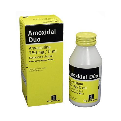 Comprar Amoxidal Duo 750mg/5ml Frasco Polvo 70ml