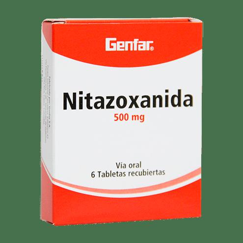 Comprar Genfar Nitazoxanida 500mg Caja X 6 Tabletas Recubiertas