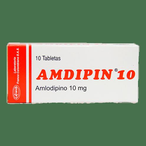 Comprar Amdipin 10mg X 10 Tabletas