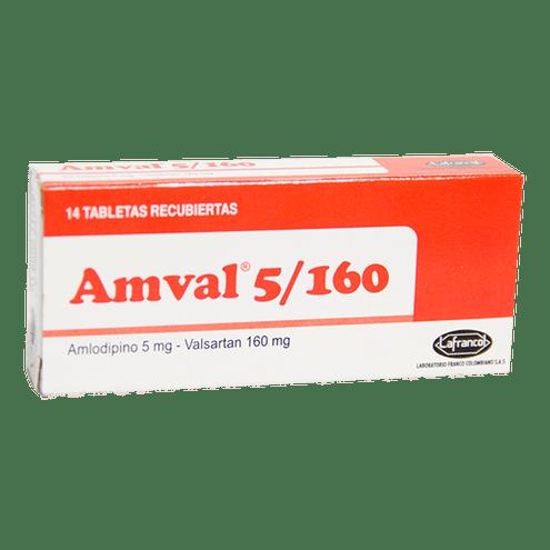 Comprar Amval 5 160mg X 14 Tabletas