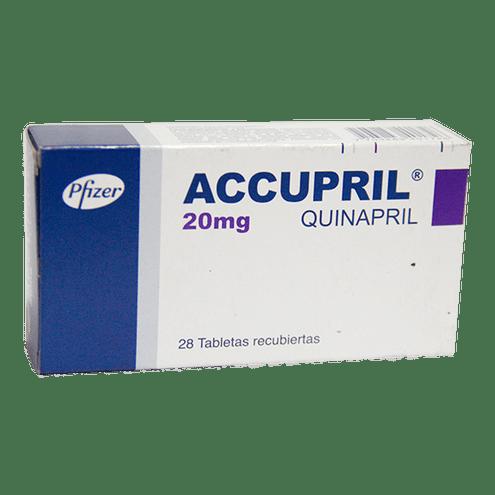 Comprar Accupril 20 Mg Caja X 28 Tabletas