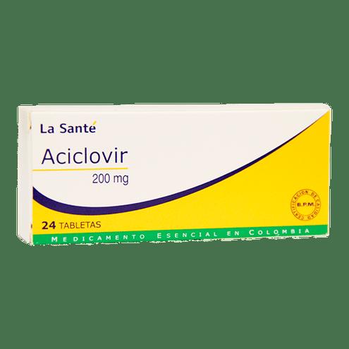 Comprar Aciclovir 200mg Caja X 24 Tabletas La Sante