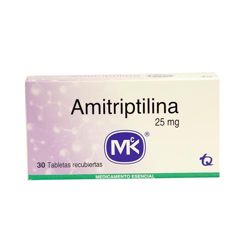 Comprar Amitriptilina 25mg Caja X 30 Tabletas Mk