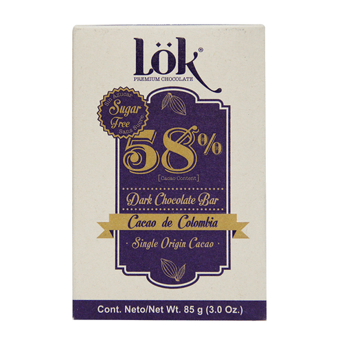 Comprar Chocolate Lok Premium Barra 58% Cacao X 85gr