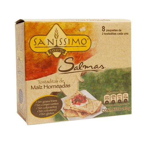 Comprar Sanissimo Tostadas Maiz Sin Gluten 140gr