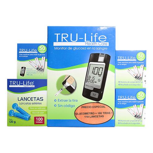 Comprar Glucometro Tru-Life + 160tiras + 110 Lancetas