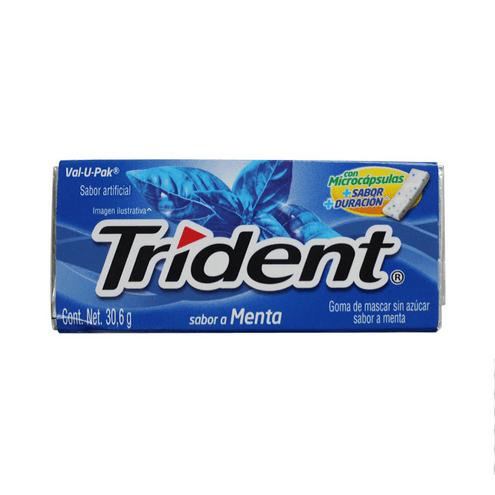 Comprar Chicle Trident Menta X 30.6gr X 18und