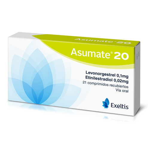 Comprar Asumate 0.1/0.02mg X 21 Comprimidos Recubiertos - Asumate 0.1/0.02mg X 21 Comprimidos Recubiertos