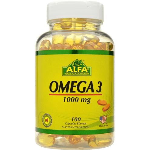 Comprar Omega 3 Alfa Vitamins 1000gr X 100 Capsulas
