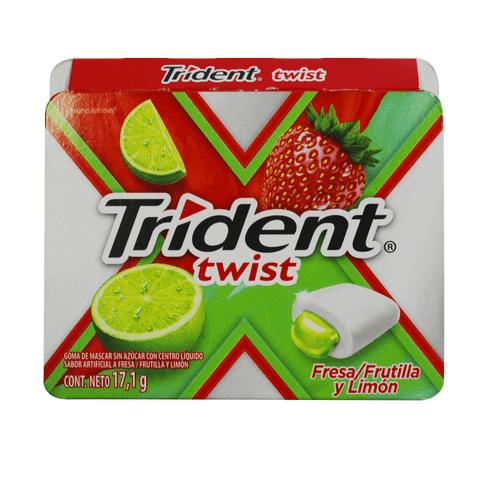 Comprar Chicles Trident Twist Fresa Limon X17.1 Gr
