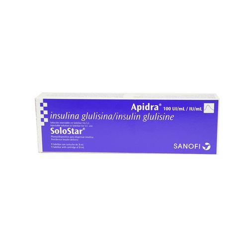 Comprar Apidra Solostar Cartucho 100ui/Ml X 3ml
