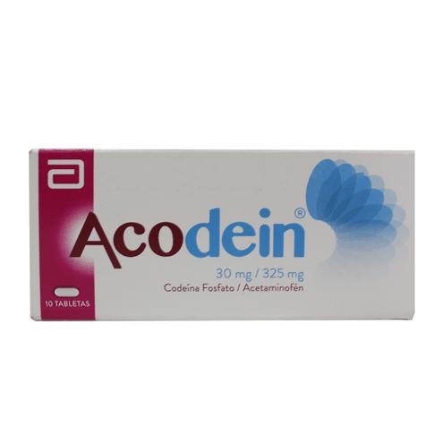 Comprar Acodein 30mg X 10 Tabletas