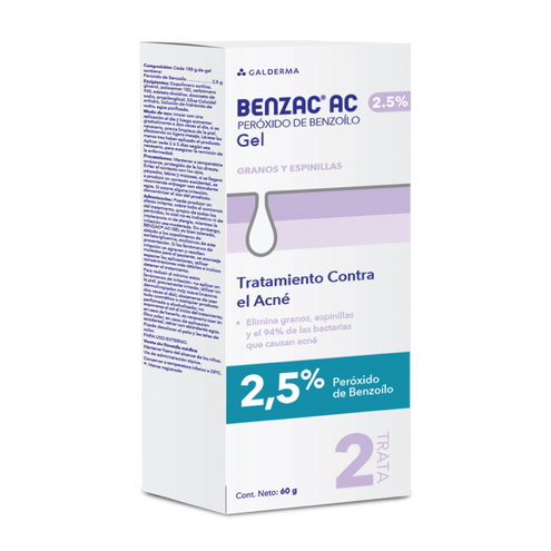 Comprar Benzac Ac Gel Facial Antiacne X 2.5% X 60gr
