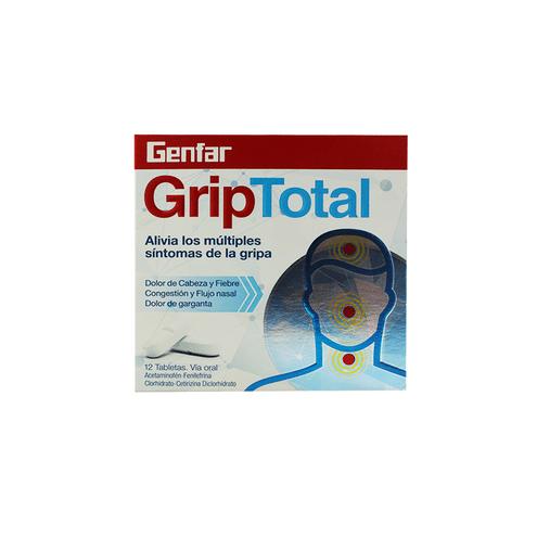 Comprar Genfar Griptotal Caja X 12 Tabletas