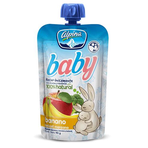 Comprar Compota Alpina Baby Banana Brocoli Manzana X 90gr