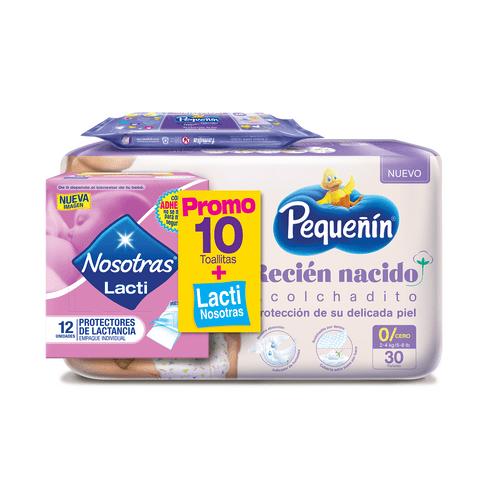 Comprar Pañal Pequeñin Etapa 0 + Toallas + Protector Lactancia