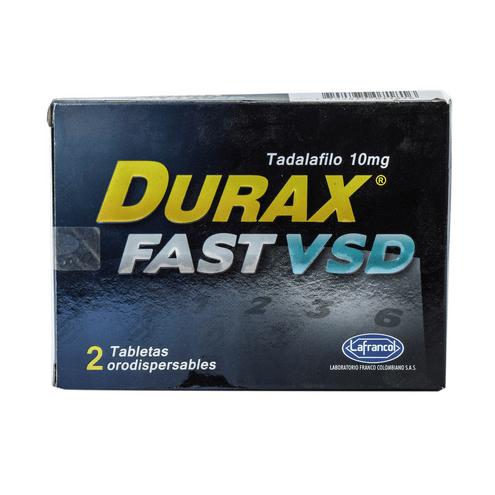 Comprar Durax Fast Vsd 10mg X 2 Tabletas