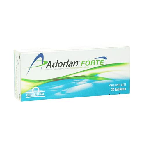 Comprar Adorlan Forte 50mg+50mg X 20 Tabletas