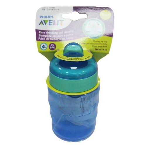Comprar Vaso Avent Antigoteo Azul 9meses 260ml 9oz