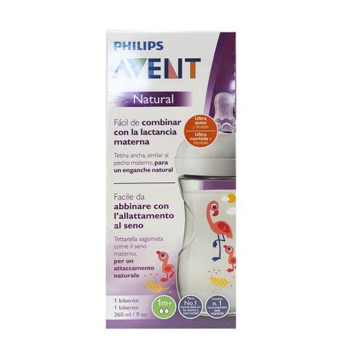 Comprar Biberon Avent Natural Flamingo 1mes 260ml 9oz