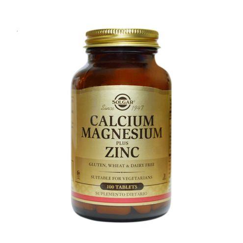 Comprar Calcium Magnesium + Zinc Solgar 100 Tabletas
