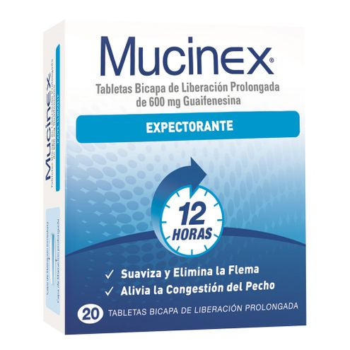 Comprar Mucinex Expectorante 600mg X 20 Tabletas
