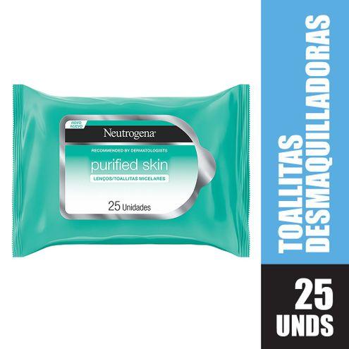 Comprar Toallitas Desmaquillantes Neutrogena Purified Skin X 25und
