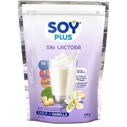 Comprar Leche De Soya Vainilla Soy Plus Sin Lactosa X 400gr