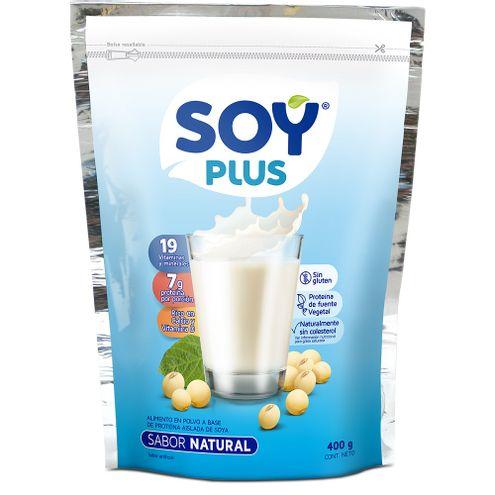Comprar Leche De Soya Natural Soy Plus X 400g