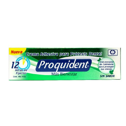 Comprar Crema Adhesiva Proquident Protesis Sin Sabor 40gr - Crema Adhesiva Protesis Sin Sabor 40 Grs