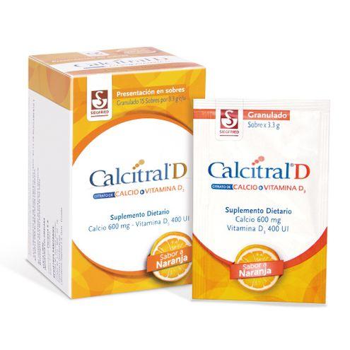 Comprar Calcitral D 600mg/400ui Caja X 15 Sobres