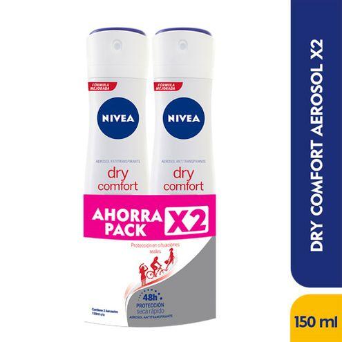 Comprar Desodorante Aerosol Nivea Dry Comfort X 150ml X 2und