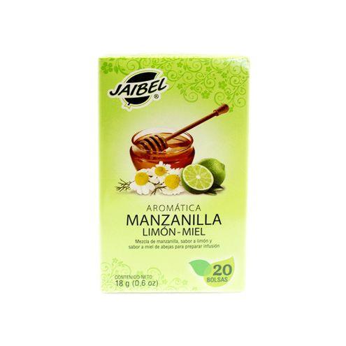Comprar Aromatica Jaibel Manzanilla Limon Miel X 20und