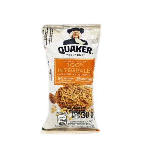 Comprar Galleta Quaker Granola Y Ajonjoli X 30g